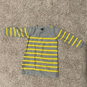18-24 Month Baby Gap Gray and Yellow Knit Dress